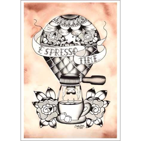 Espresso Time Coffee Print - Jubly-Umph -  Print,