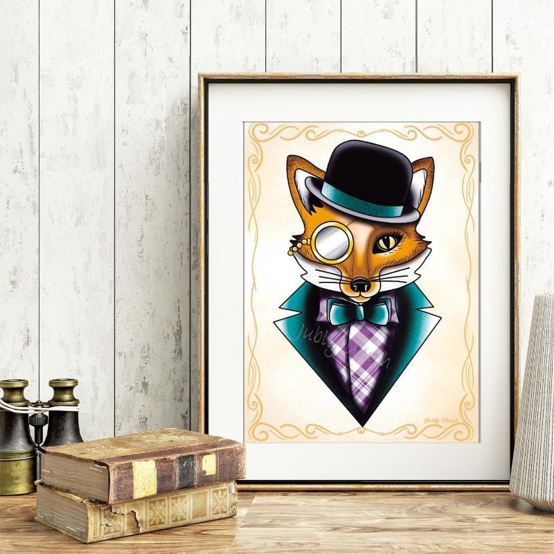 We're All Different Felix The Fox Print - Jubly-Umph -  Print, - 1