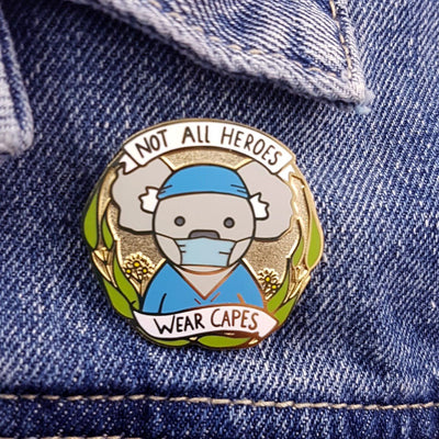 Not All Heroes Wear Capes - Essential Worker Lapel Pin