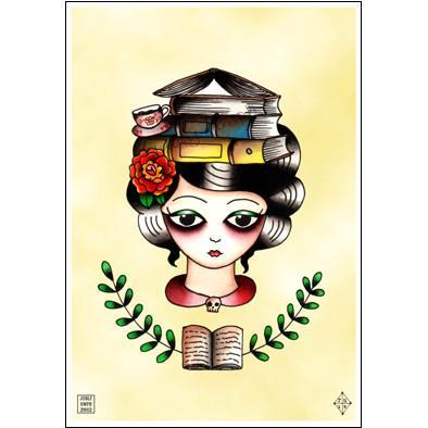Librarian Book Lady Print - Jubly-Umph -  Print, - 2