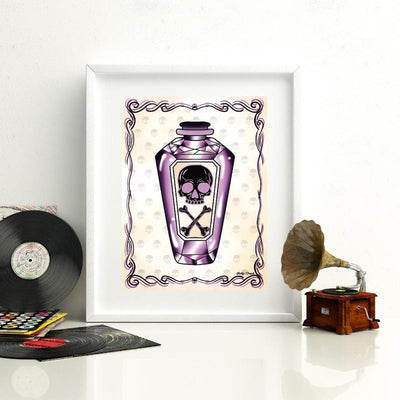 Drink Me Poison Bottle Print - Jubly-Umph -  Print, - 1