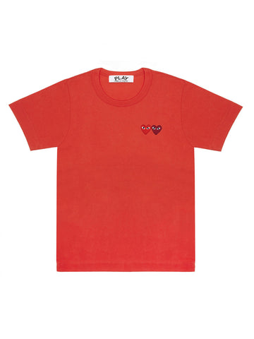 Red Tee double heart