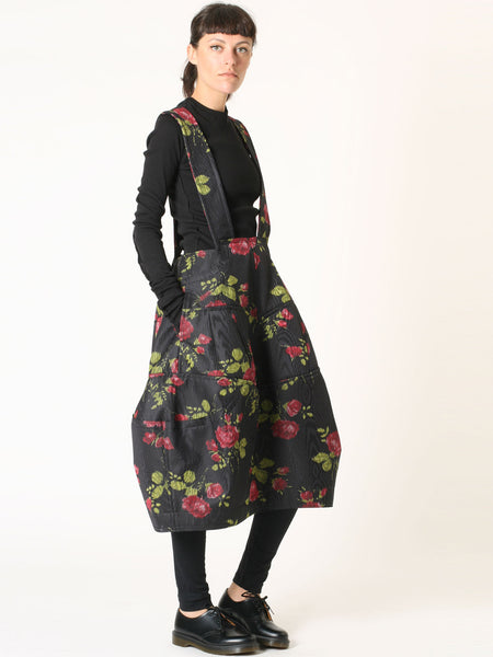 Print pinafore skirt