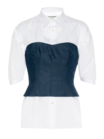 shirt denim corset