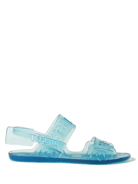Zip Tie jelly sandal blue