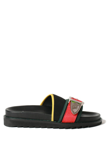 black mix loafer
