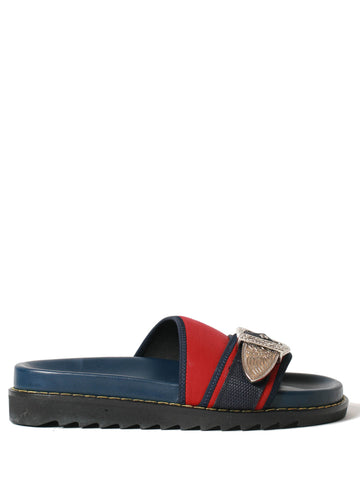 navy mix loafer