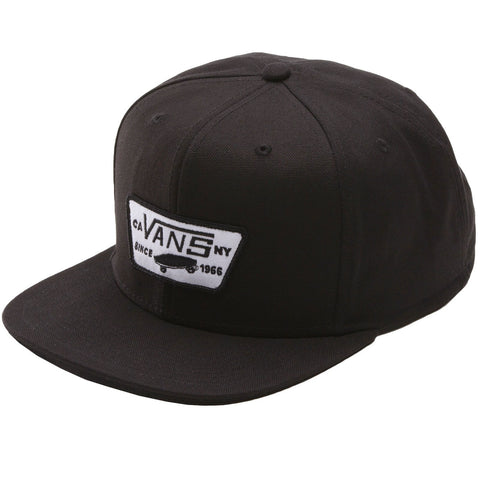 VANS FULL PATCH SNAPBACK TRUE BLACK - Skateboards Amsterdam