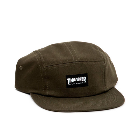 THRASHER 5 PANEL HAT ARMY