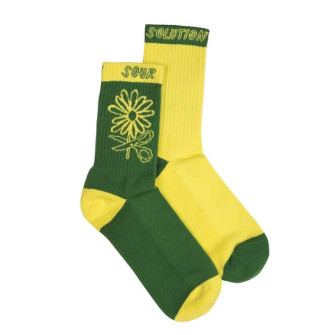 SOUR FLORETA SOCKS YELLOW/GREEN