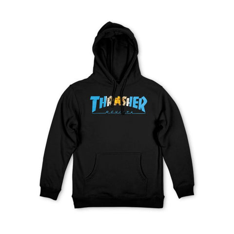 THRASHER ARGENTINA HOODED SWEATER BLACK