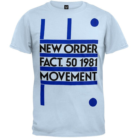 NEW ORDER MOVEMENT T-SHIRT LIGHT BLUE