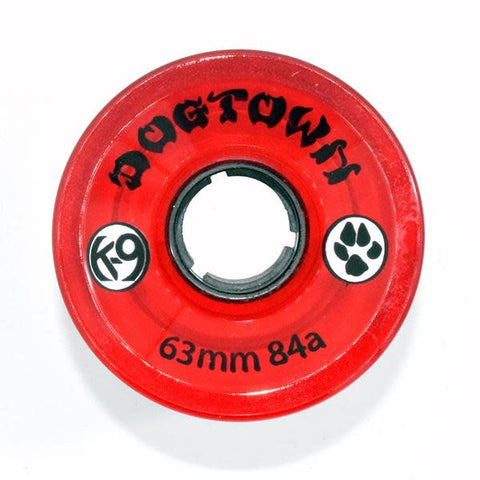 DOGTOWN K-9 CRUISER CLEAR RED 84A 63MM