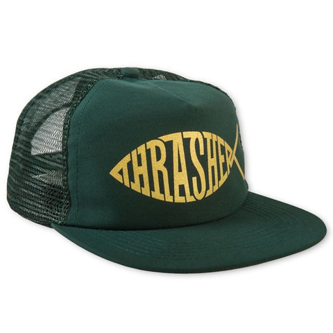 THRASHER FISH MESH SNAPBACK GREEN - Skateboards Amsterdam