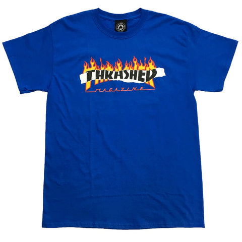 THRASHER RIPPED T-SHIRT ROYAL BLUE