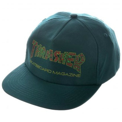 THRASHER DAVIS SNAPBACK FOREST GREEN