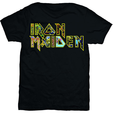 IRON MAIDEN EDDIE LOGO T-SHIRT BLACK - Skateboards Amsterdam