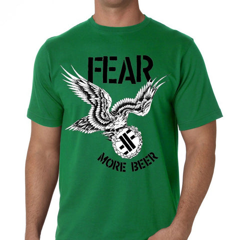 FEAR MORE BEER T-SHIRT GREEN