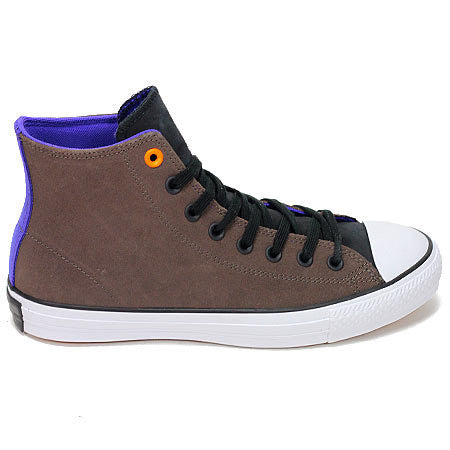 CONVERSE CTAS PRO LEATHER HI DARK CHOCOLATE/BLACK GRAPE - Skateboards Amsterdam