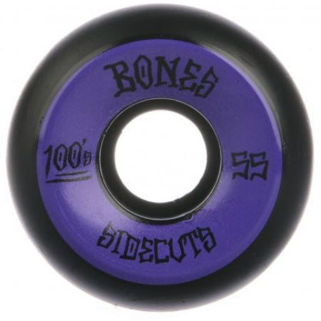 BONES 100S #2 SIDECUTS V5 BLACK 55MM