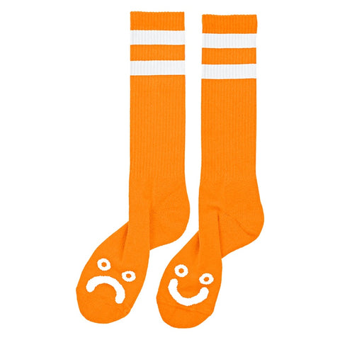 POLAR HAPPY SAD CLASSIC SOCKS ORANGE