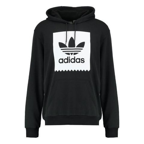 ADIDAS SOLID BB HOODED SWEATER BLACK/WHITE