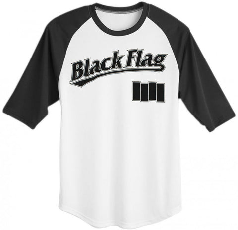 BLACK FLAG BASEBALL JERSEY - Skateboards Amsterdam