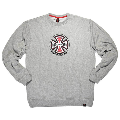INDEPENDENT TRUCK CO CREWNECK HEATHER GREY - Skateboards Amsterdam