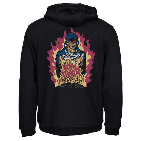 SANTA CRUZ KNOX FIREPIT HOODED SWEATER BLACK