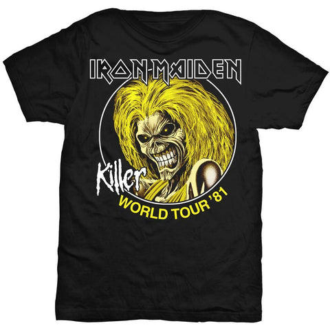 IRON MAIDEN KILLERS WORLD TOUR 81 T-SHIRT BLACK - Skateboards Amsterdam
