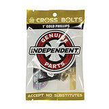 INDEPENDENT CROSS BOLTS 7/8 PHILLIPS HEAD BLACK/GOLD