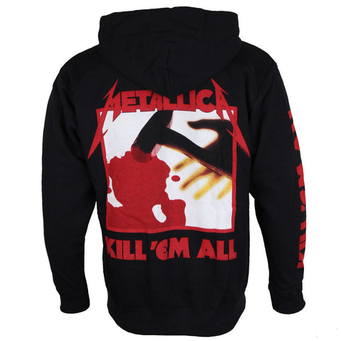 METALLICA KILL EM ALL HOODED ZIPPER BLACK