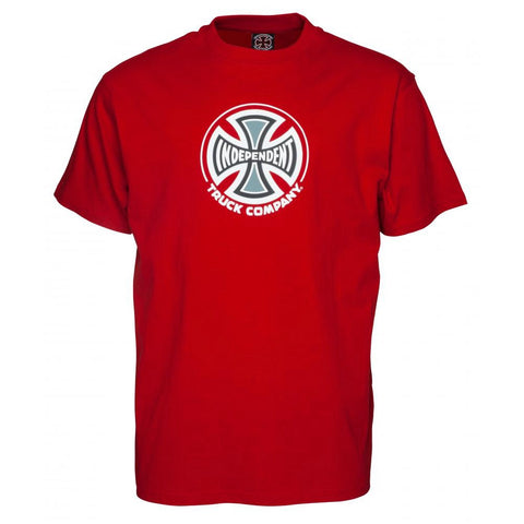 INDEPENDENT TRUCK CO T-SHIRT CARDINAL RED