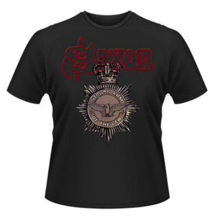 SAXON STRONG ARM OF THE LAW T-SHIRT - Skateboards Amsterdam - 1