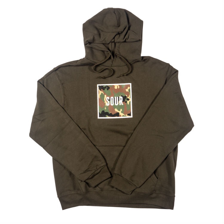 6d30a27631a9 SOUR ARMY BOX HOODED SWEATER OLIVE – Skateboards Amsterdam