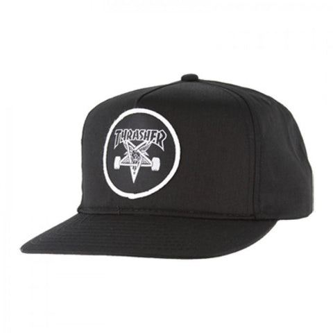 THRASHER SKATE GOAT 5 PANEL BLACK SNAP BACK - Skateboards Amsterdam