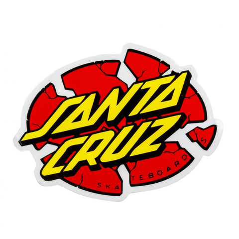 SANTA CRUZ BROKEN DOT STICKER 4 INCH