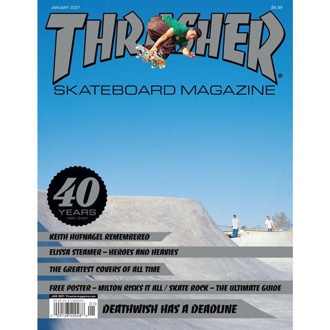 THRASHER MAGAZINE JANUARY 2021