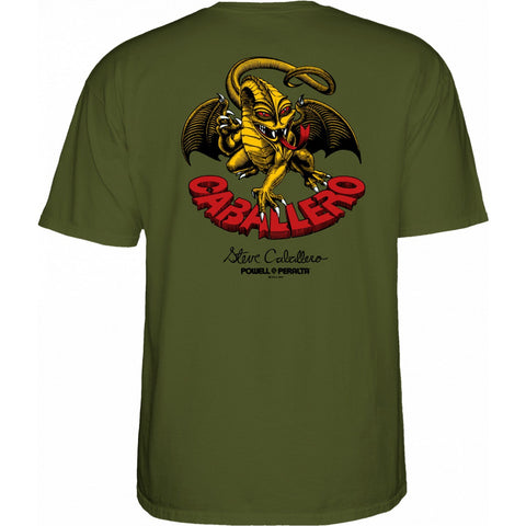 POWELL PERALTA CAB DRAGON II T-SHIRT GREEN