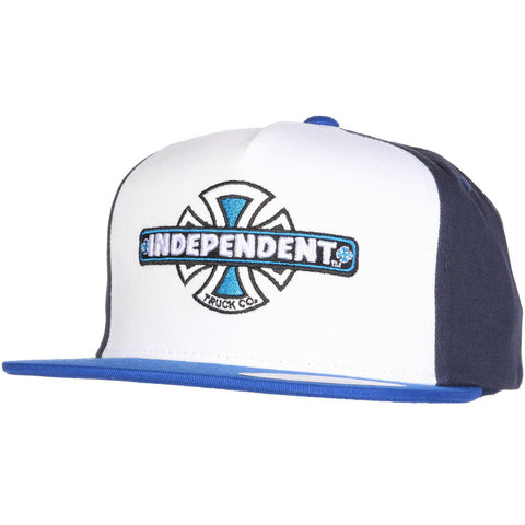 INDEPENDENT VINTAGE BC SNAPBACK BLUE/NAVY/WHITE - Skateboards Amsterdam