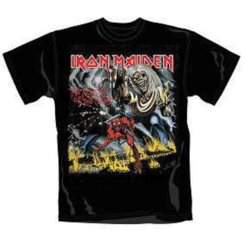 IRON MAIDEN NUMBER OF THE BEAST T-SHIRT BLACK - Skateboards Amsterdam - 1
