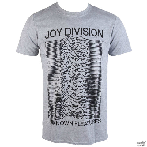 JOY DIVISION UNKNOWN PLEASURES T-SHIRT GREY - Skateboards Amsterdam