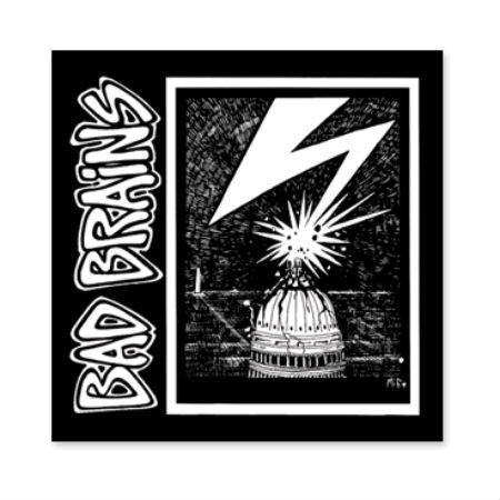 BAD BRAINS PRINTED PATCH CAPITOL - Skateboards Amsterdam