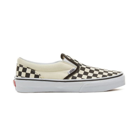 VANS CLASSIC SLIP-ON (CHECKERBOARD)BLACK/WHITE -YOUTH-
