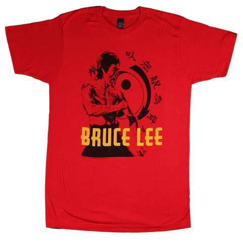 BRUCE LEE HI-YAH T-SHIRT RED - Skateboards Amsterdam