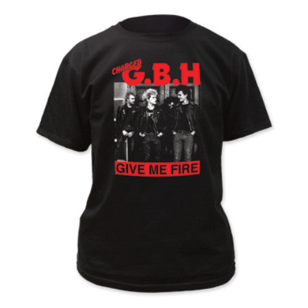 G.B.H. GIVE ME FIRE T-SHIRT BLACK - Skateboards Amsterdam - 1