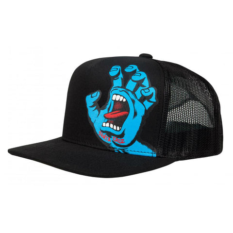 SANTA CRUZ SCREAMING HAND YOUTH CAP BLACK