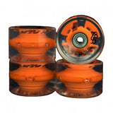 SUNSET LED CRUISER WHEELS 65MM ORANGE INCL BEARINGS