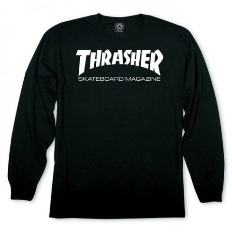 THRASHER SKATE MAG LONG SLEEVE BLACK