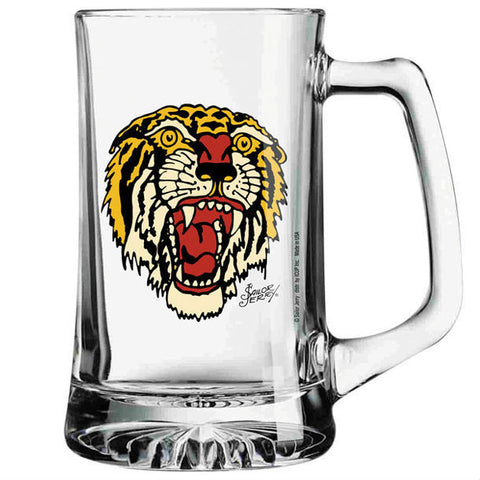 SAILOR JERRY TIGER GLASS MUG - Skateboards Amsterdam
